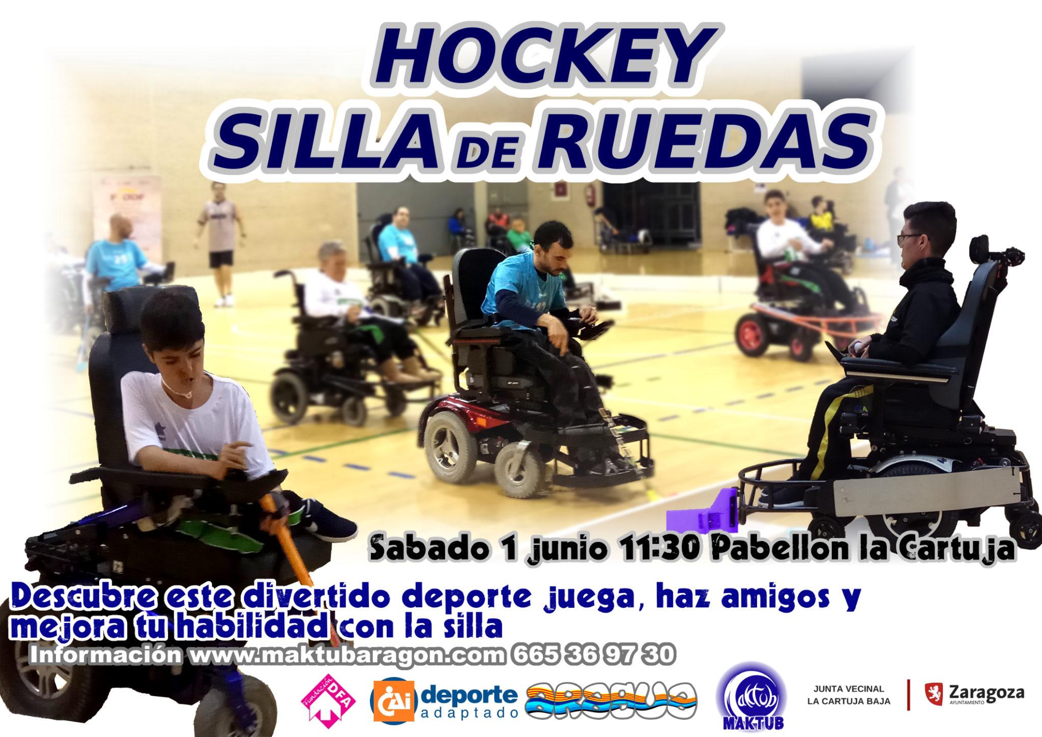 hockey silla de ruedas electrica zaragoza